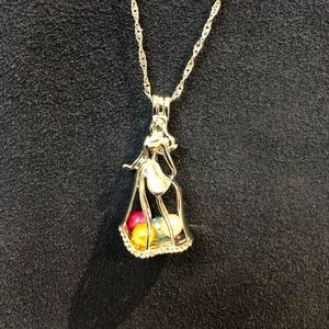 Jewelry - SALE! Disney Sleeping Beauty pearl cage necklace